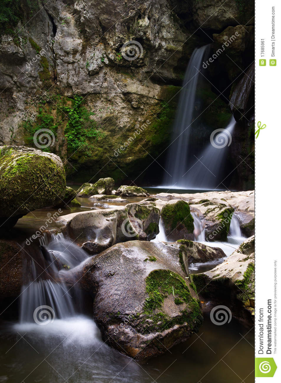 Two small waterfalls