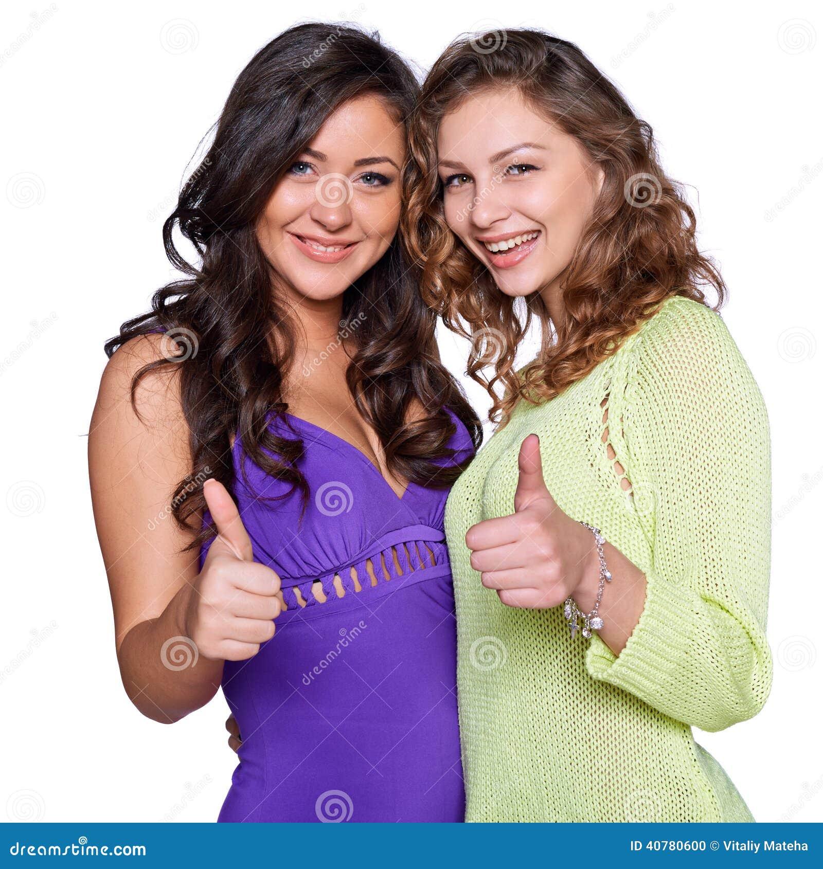 Two smiling girls
