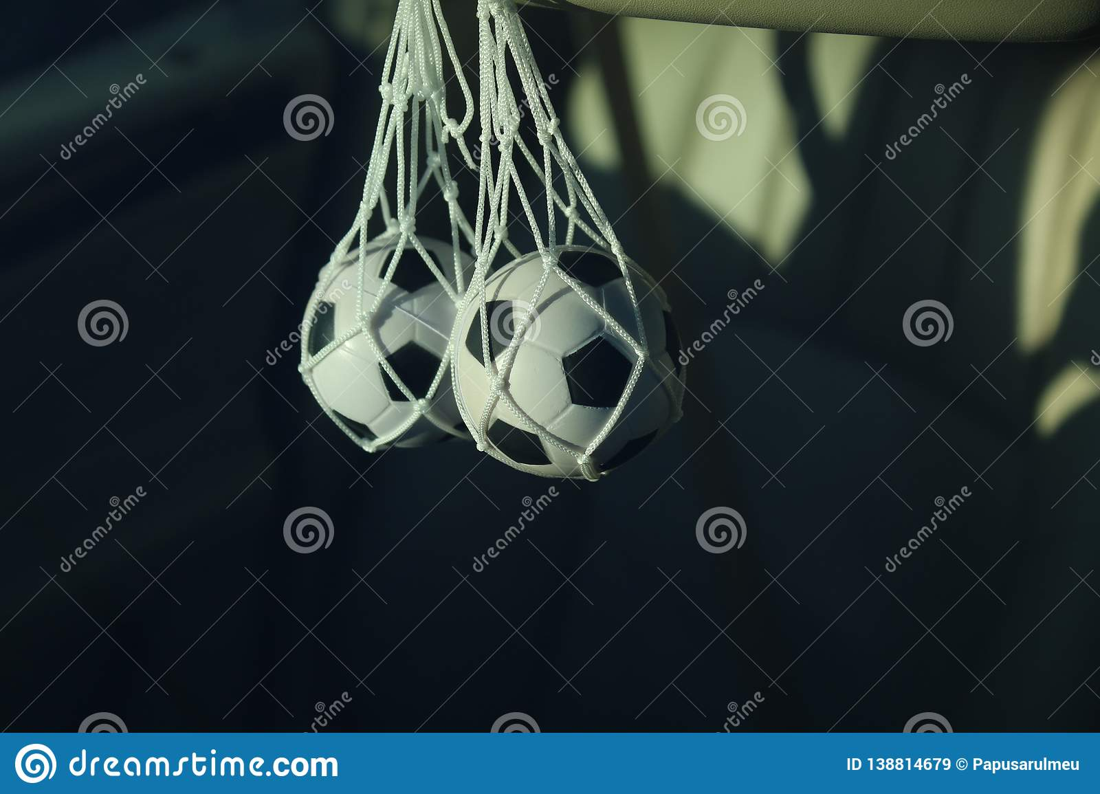 Accessory for the car in the form of a soccer ball