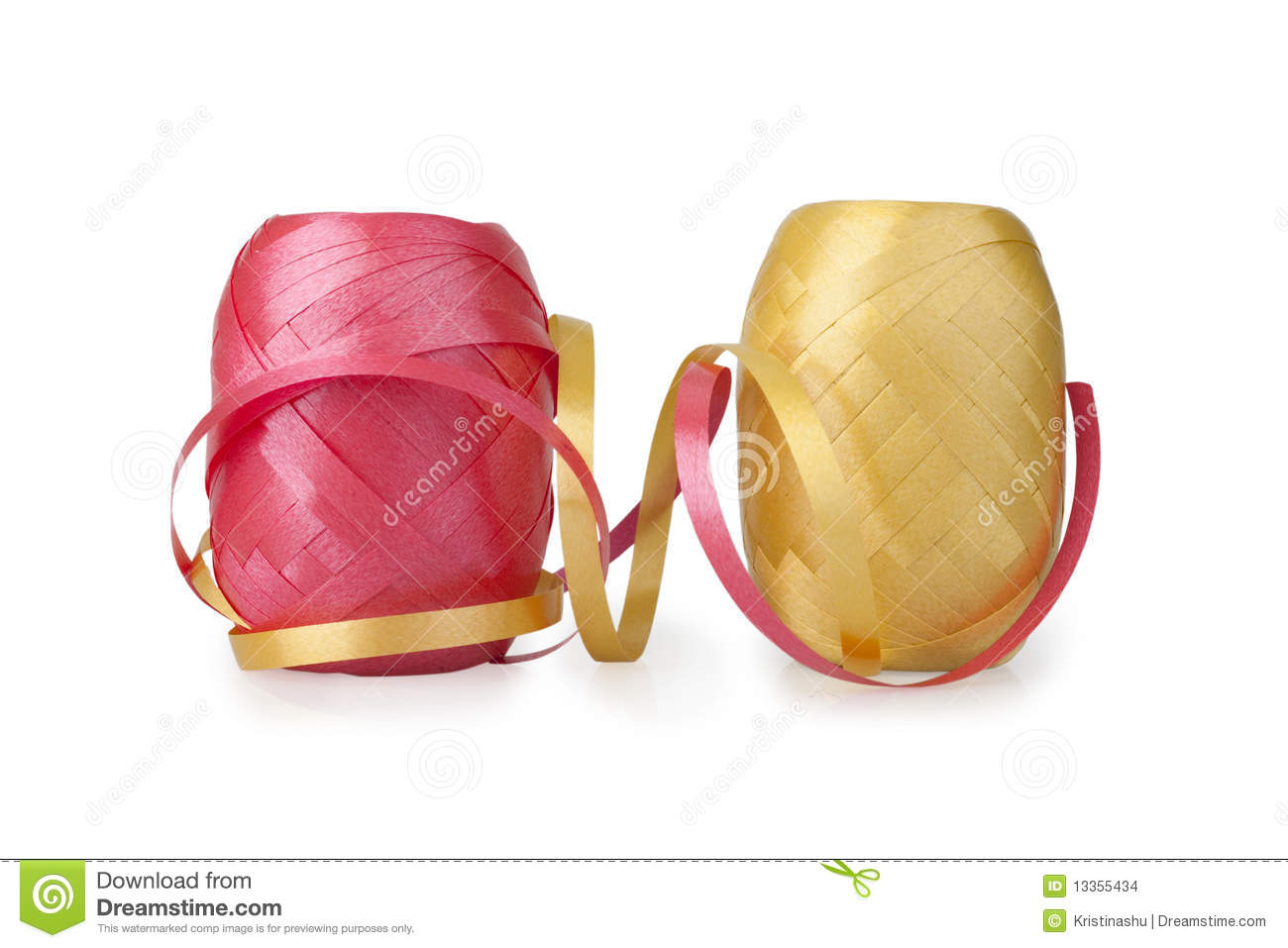 Two spool of ribbons