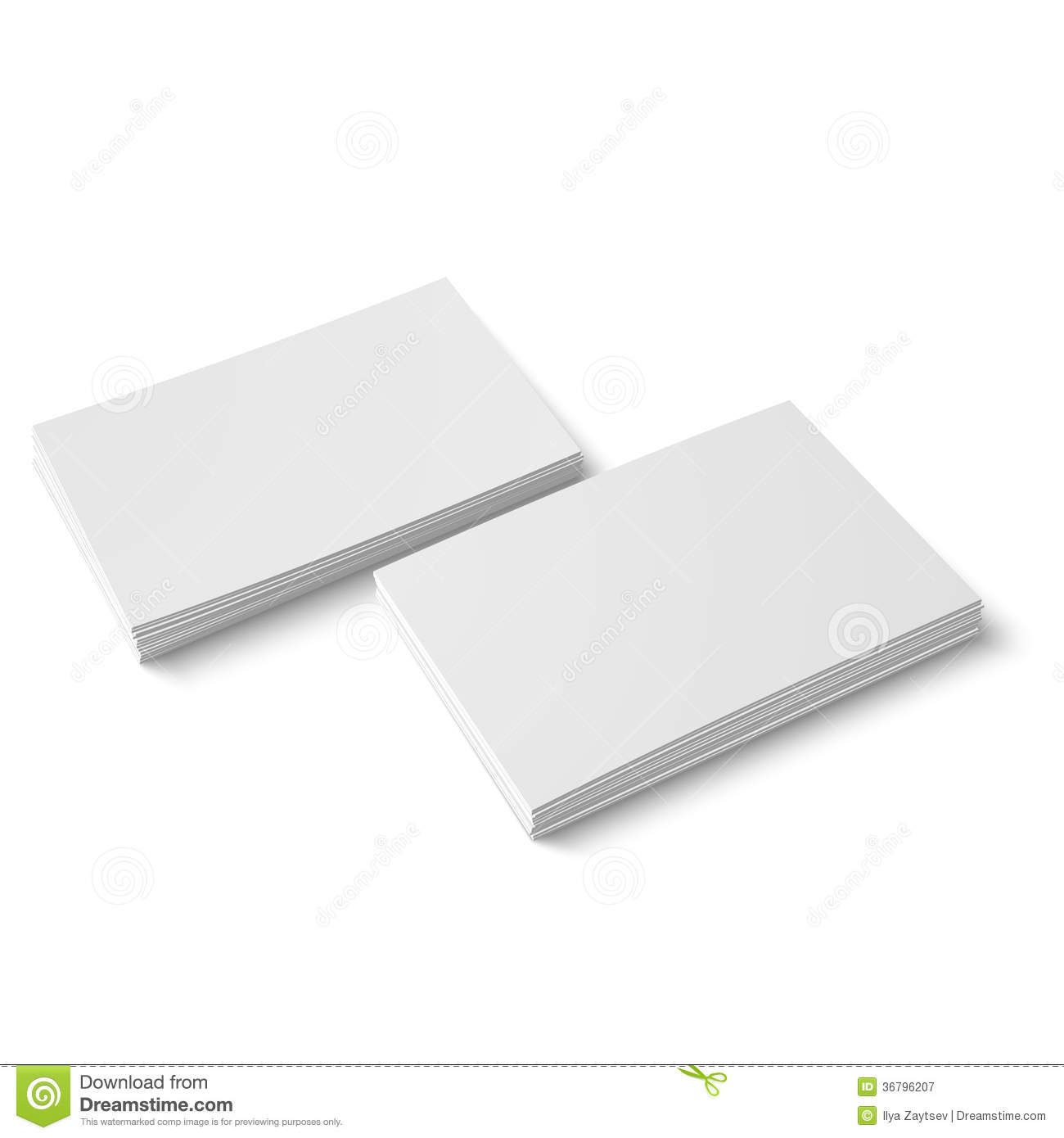 Two stack of blank business card stock vector illustration of two stack of blank business card royalty free stock photo reheart Image collections