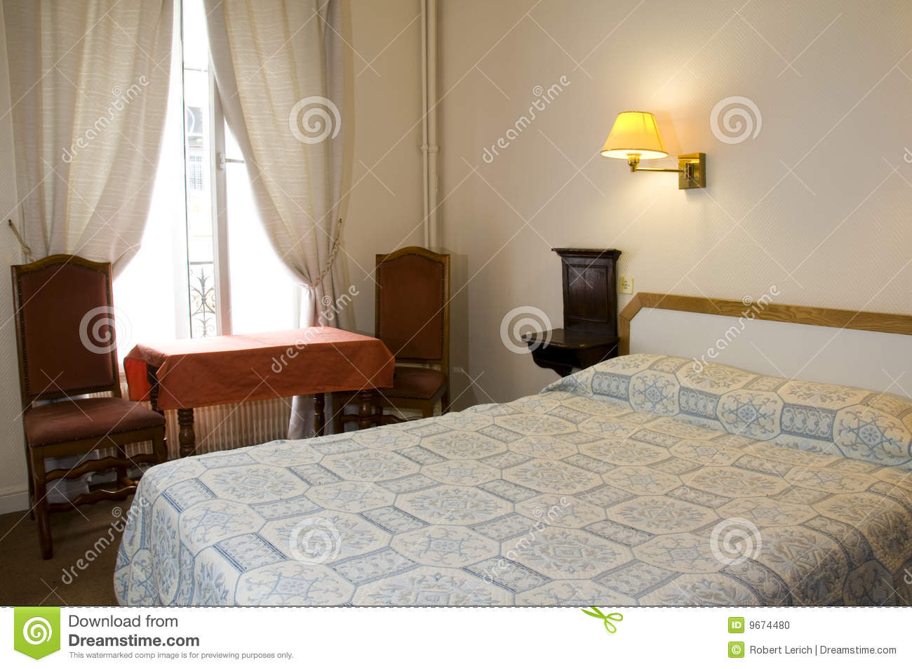 Two Star Hotel Room Paris France Stock Photo Image 9674480