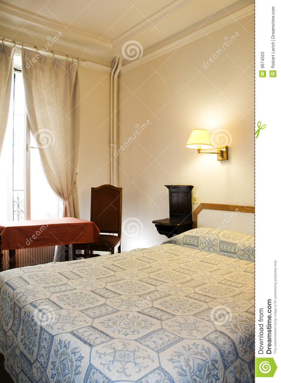 Two Star Hotel Room Paris France Stock Photos