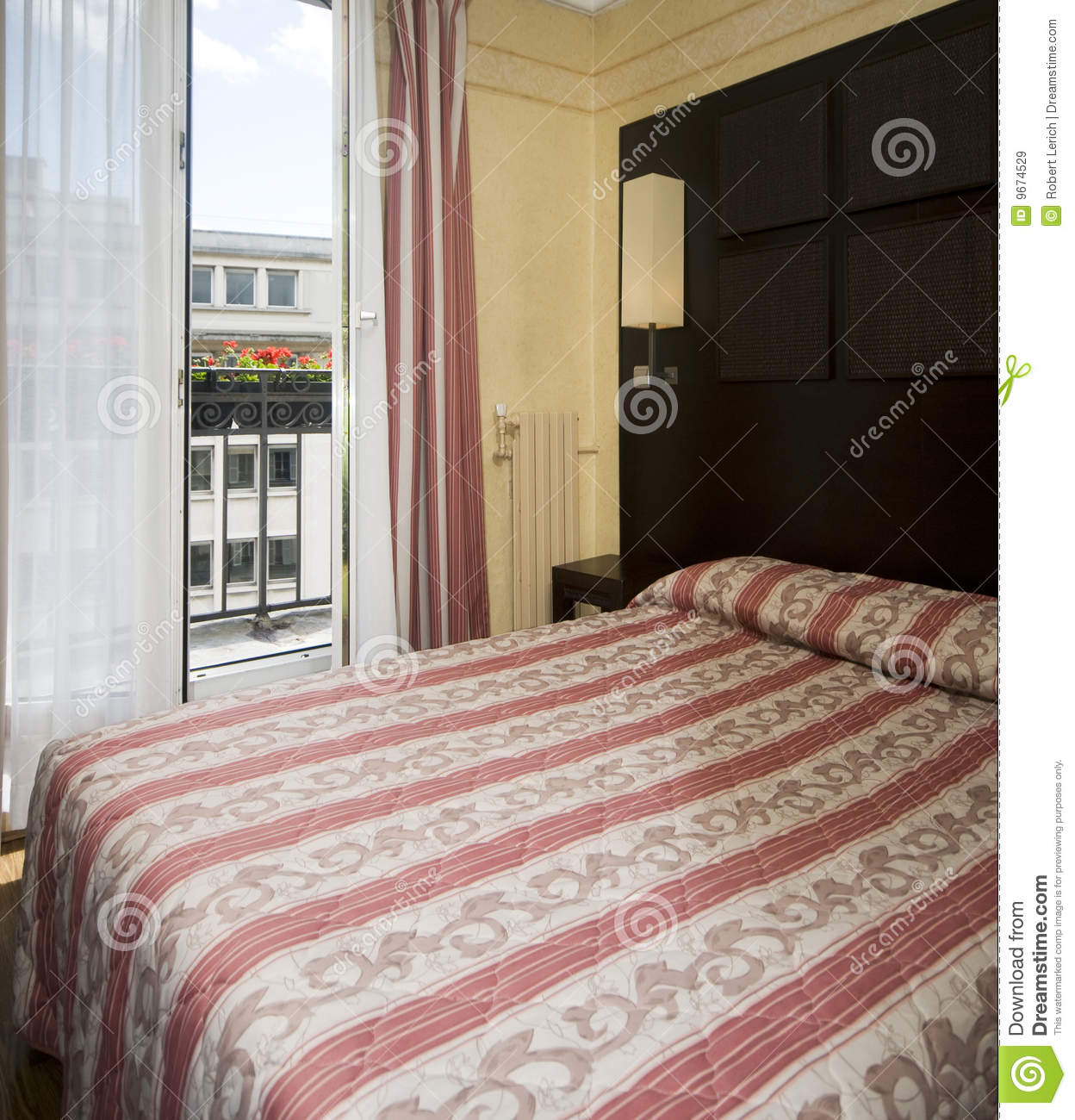 Two Star Hotel Room Paris France Royalty Free Stock Images