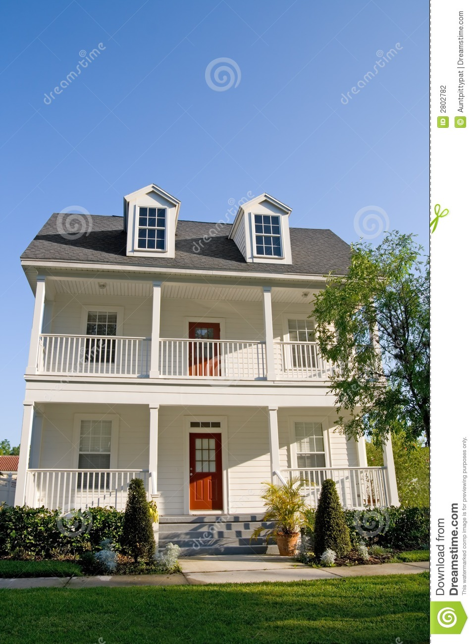 Two story with balconies stock photo image of exterior Two story house plans with balcony