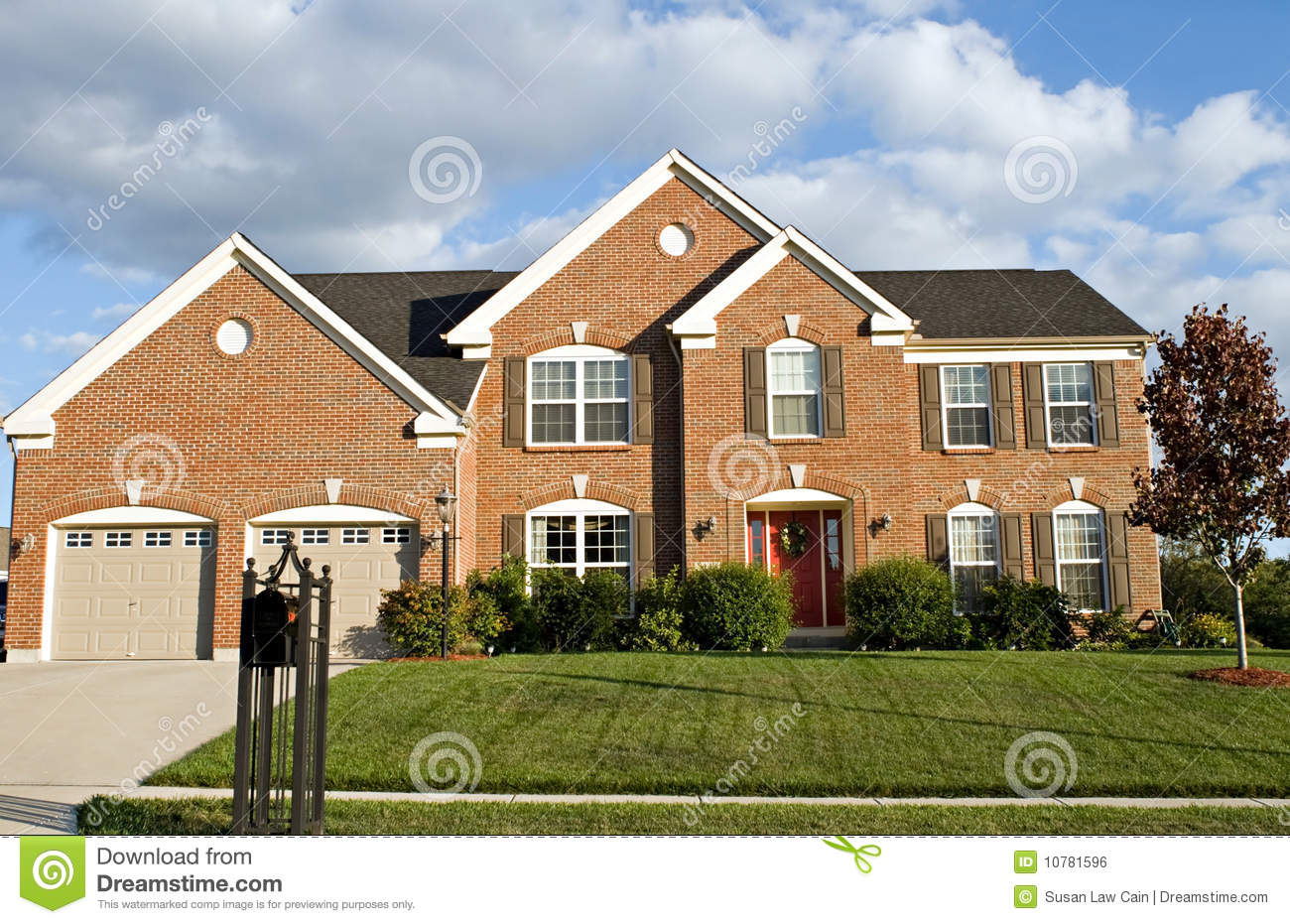 Two Story Brick House Royalty Free Stock Image Image