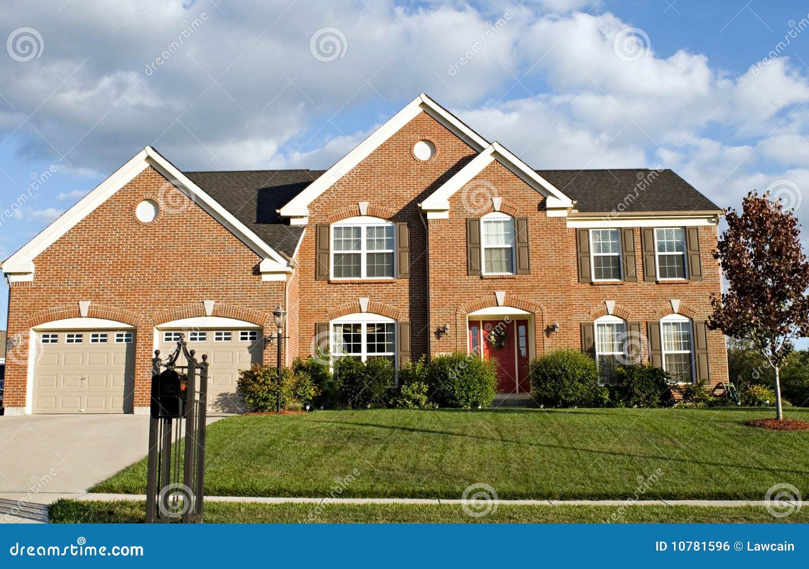 Two Story Brick House Royalty Free Stock Image Image