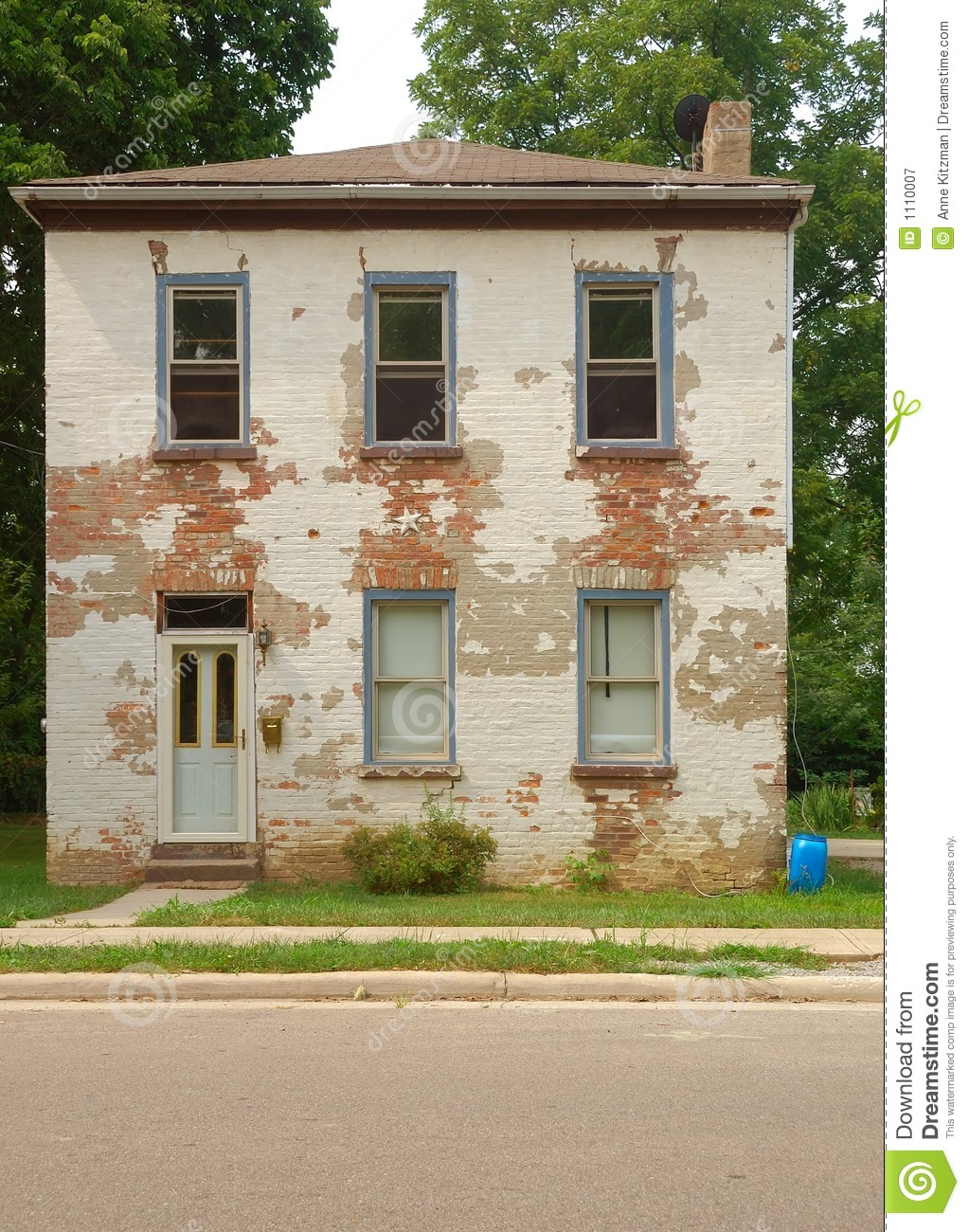 Two Story Brick House Royalty Free Stock Photography
