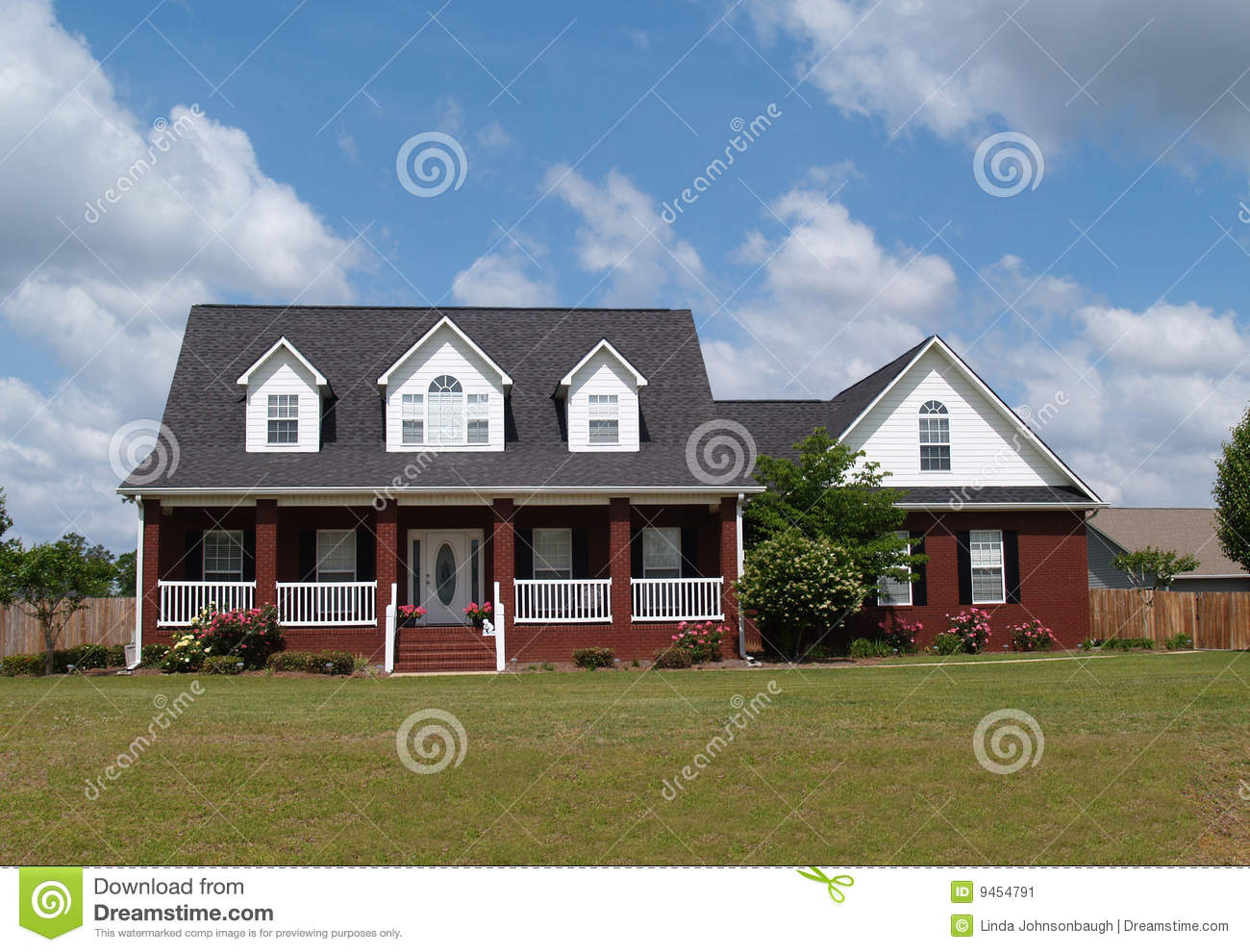 Two Story Brick Residential Home Stock Image Image 9454791