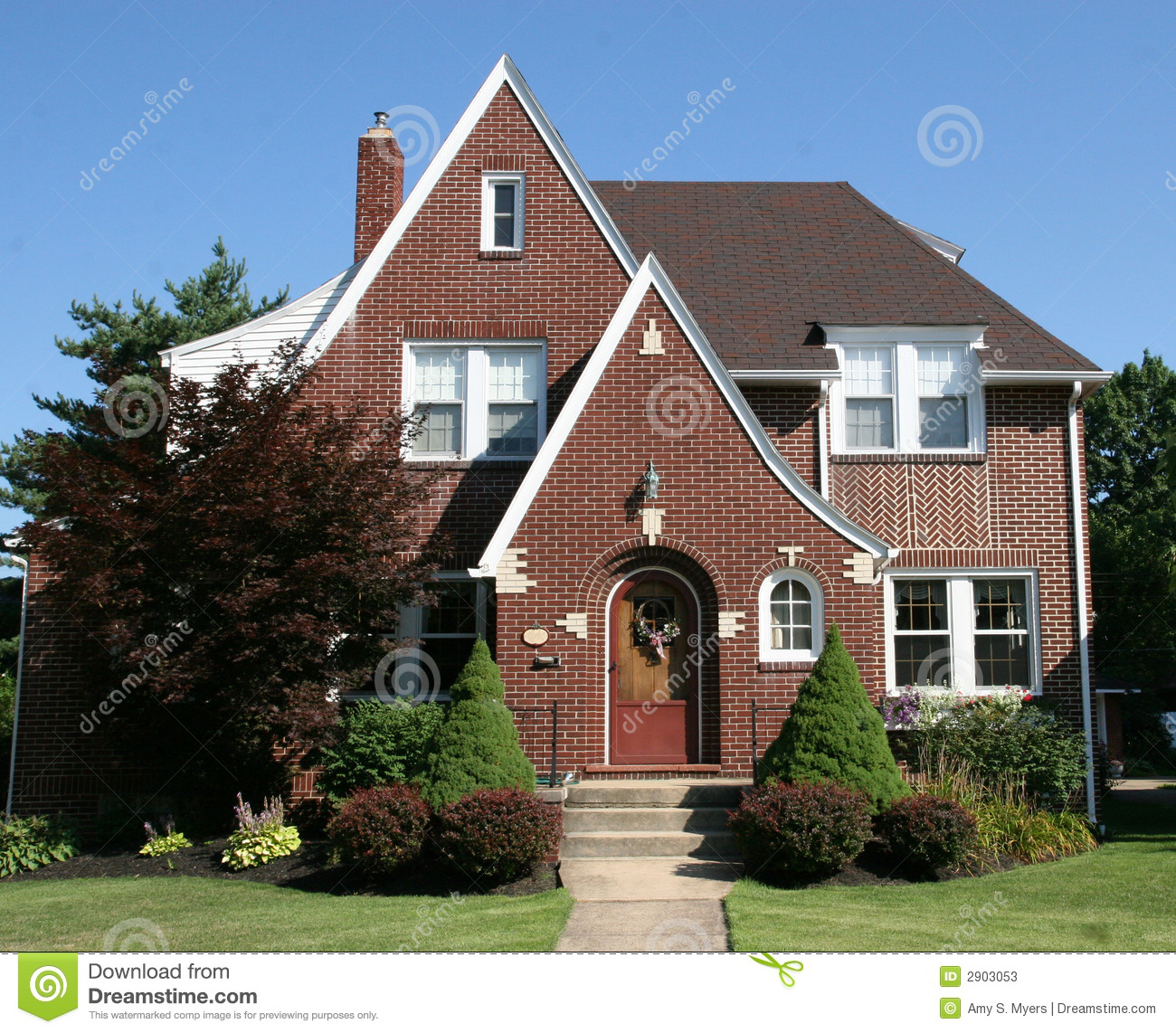 two story cape cod stock image image of living