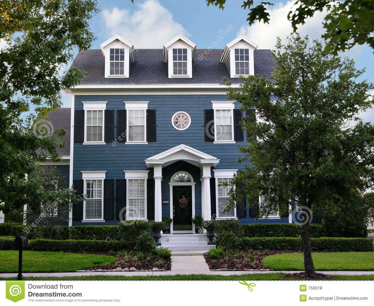 Two-Story Colonial Royalty Free Stock Photos - Image: 750518
