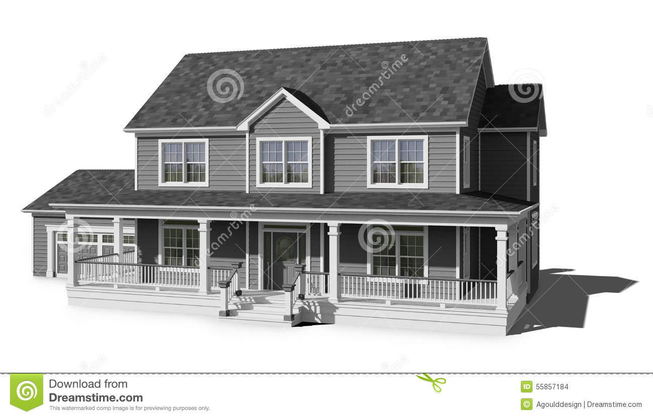 Two Story House Gray Stock Photo Image Of Story