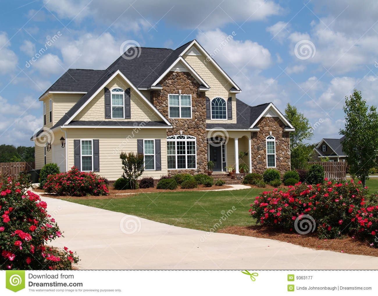 Two Story Residential Home Stock Image Image Of Dwelling