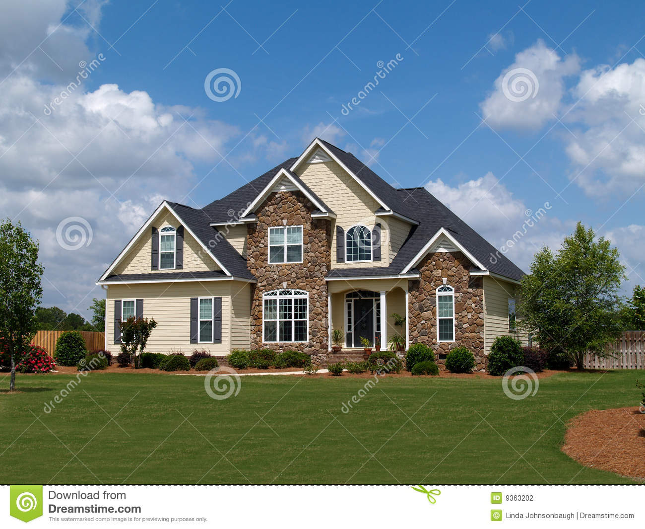 One Story Modern House Plans Two Story Residential Home Stock Photography Image 9363202