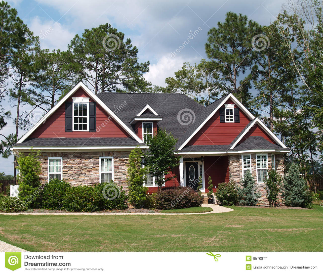 Two Storey Residential House With Attic: Two Story Residential Home Royalty Free Stock Photography