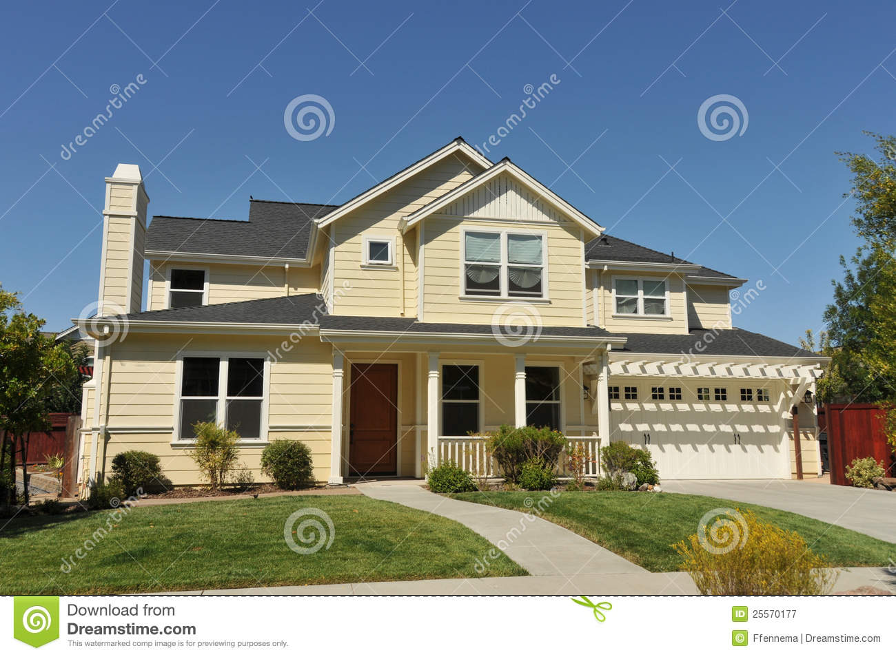 Two Story Single Family House With Driveway Stock Image Image 25570177