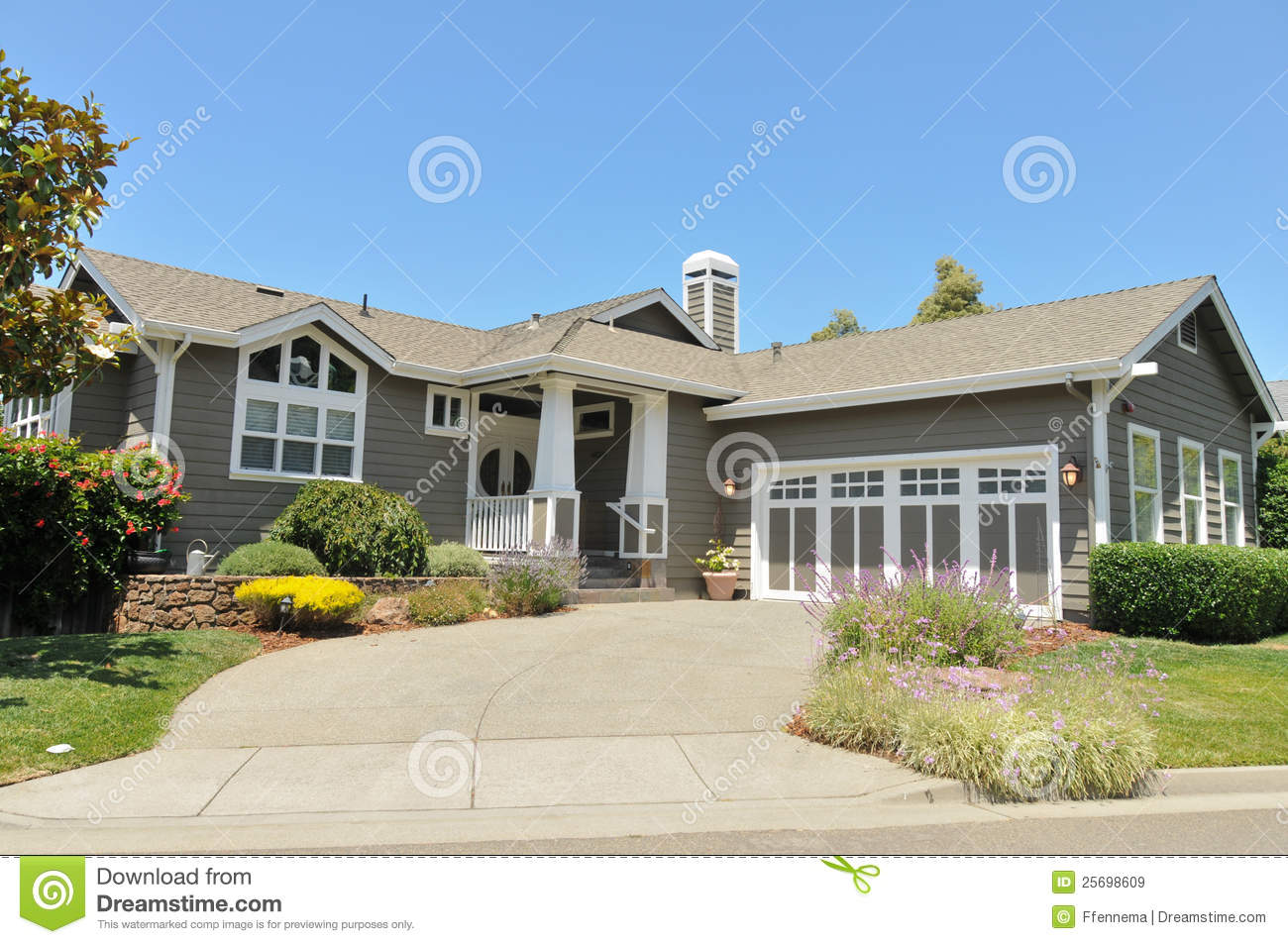 Two Story Single Family House With Driveway Royalty Free Stock Images Image 25698609