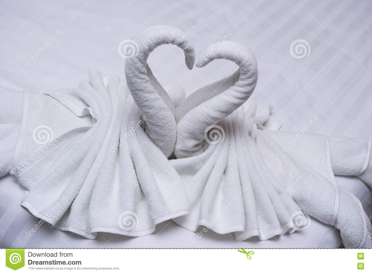 Swans Of Towels Royalty Free Stock Photography