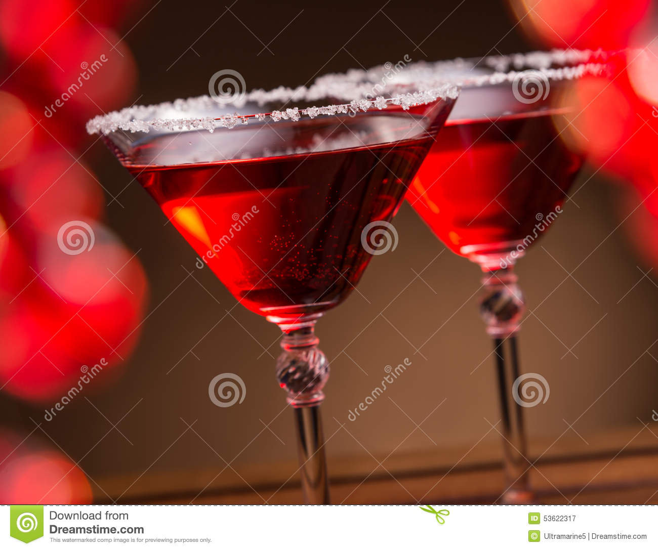 Two sweet cocktails