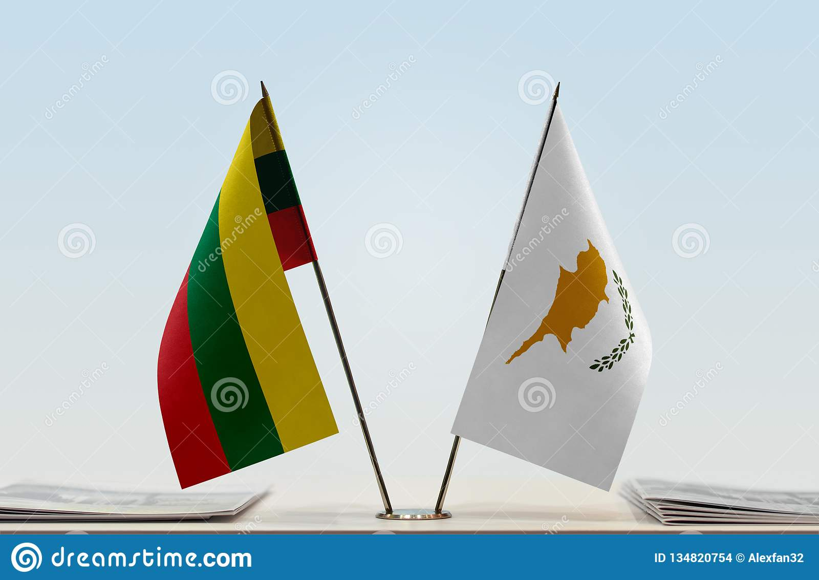 Flags of Lithuania and Cyprus