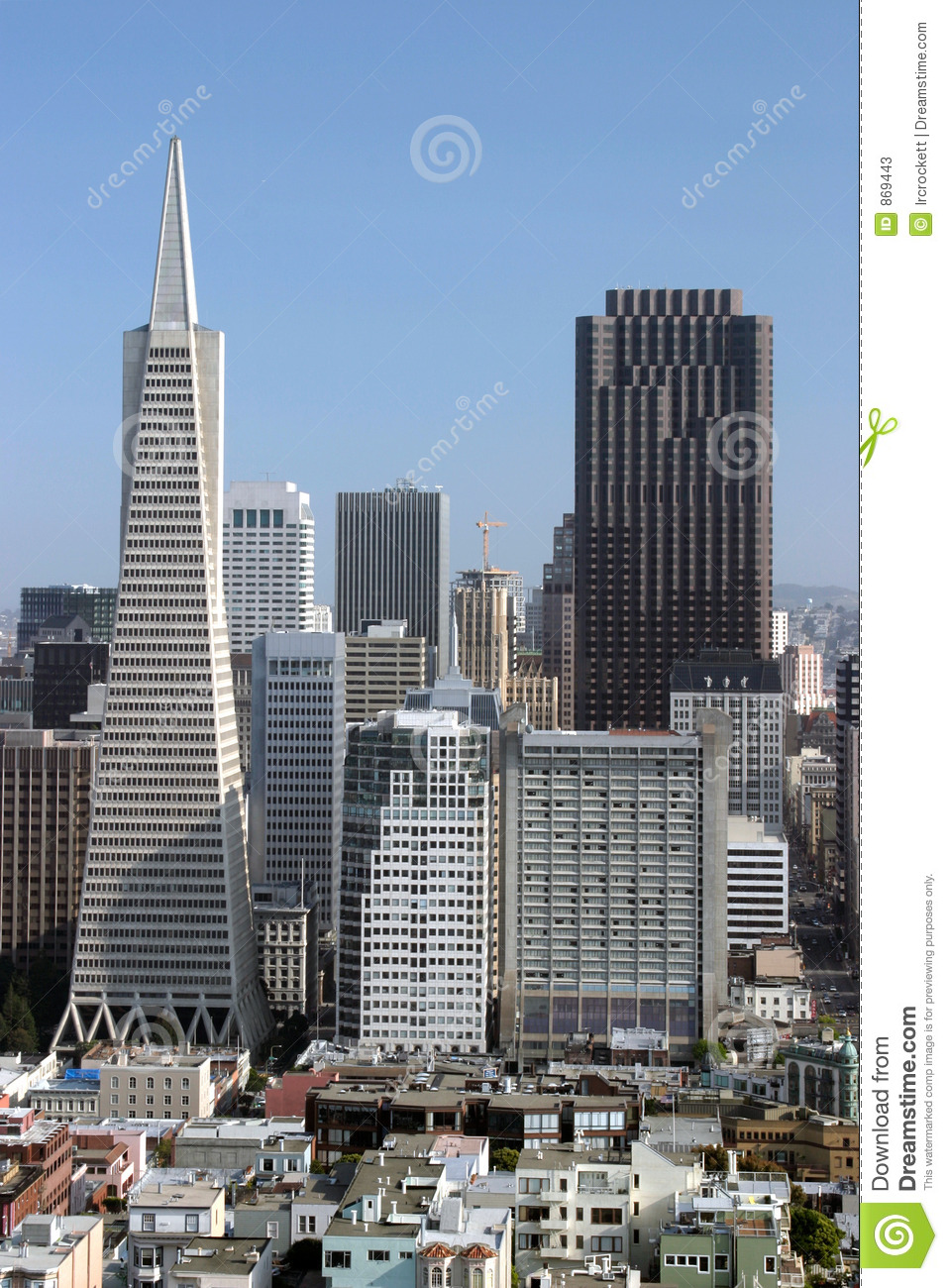 Two Tallest Buildings In San Francisco Editorial Stock ...