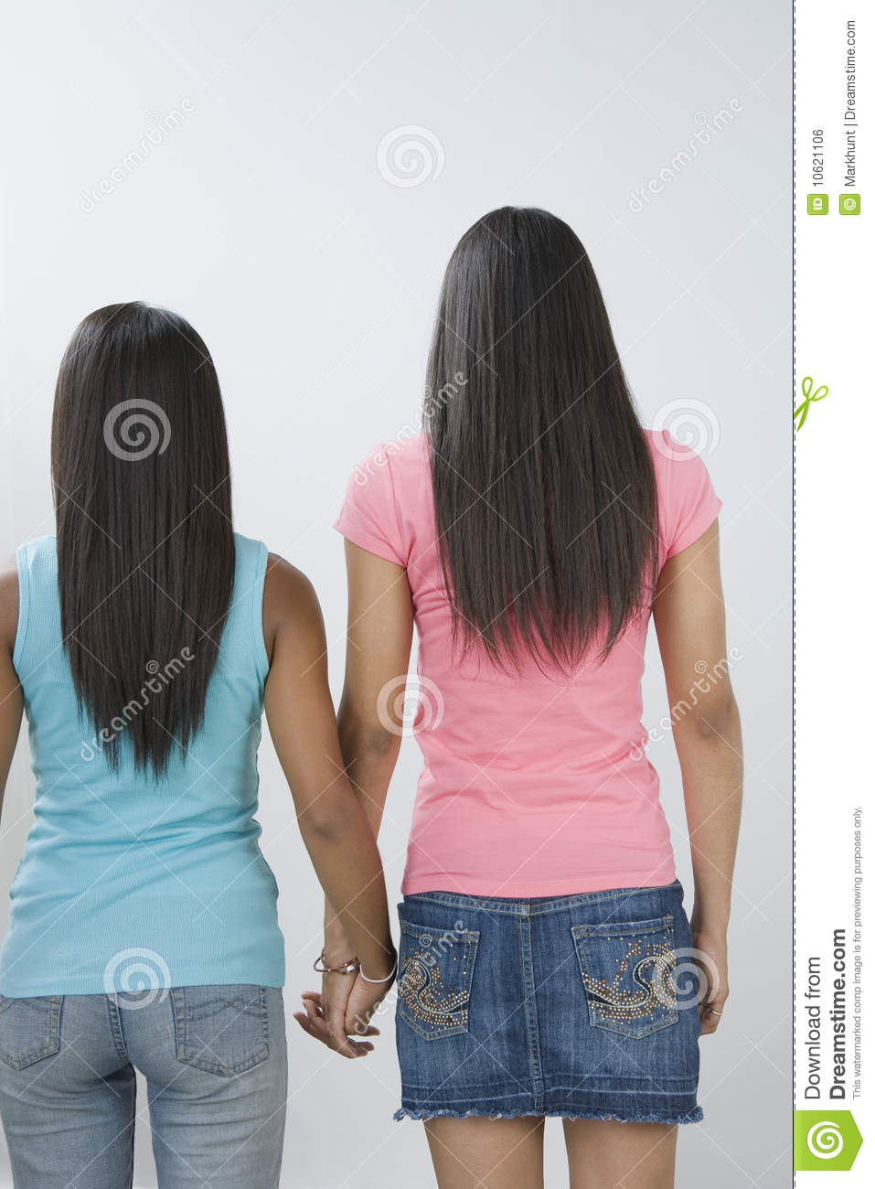 Two Teen Girls Holding Hands. Stock Photo - Image: 10621106