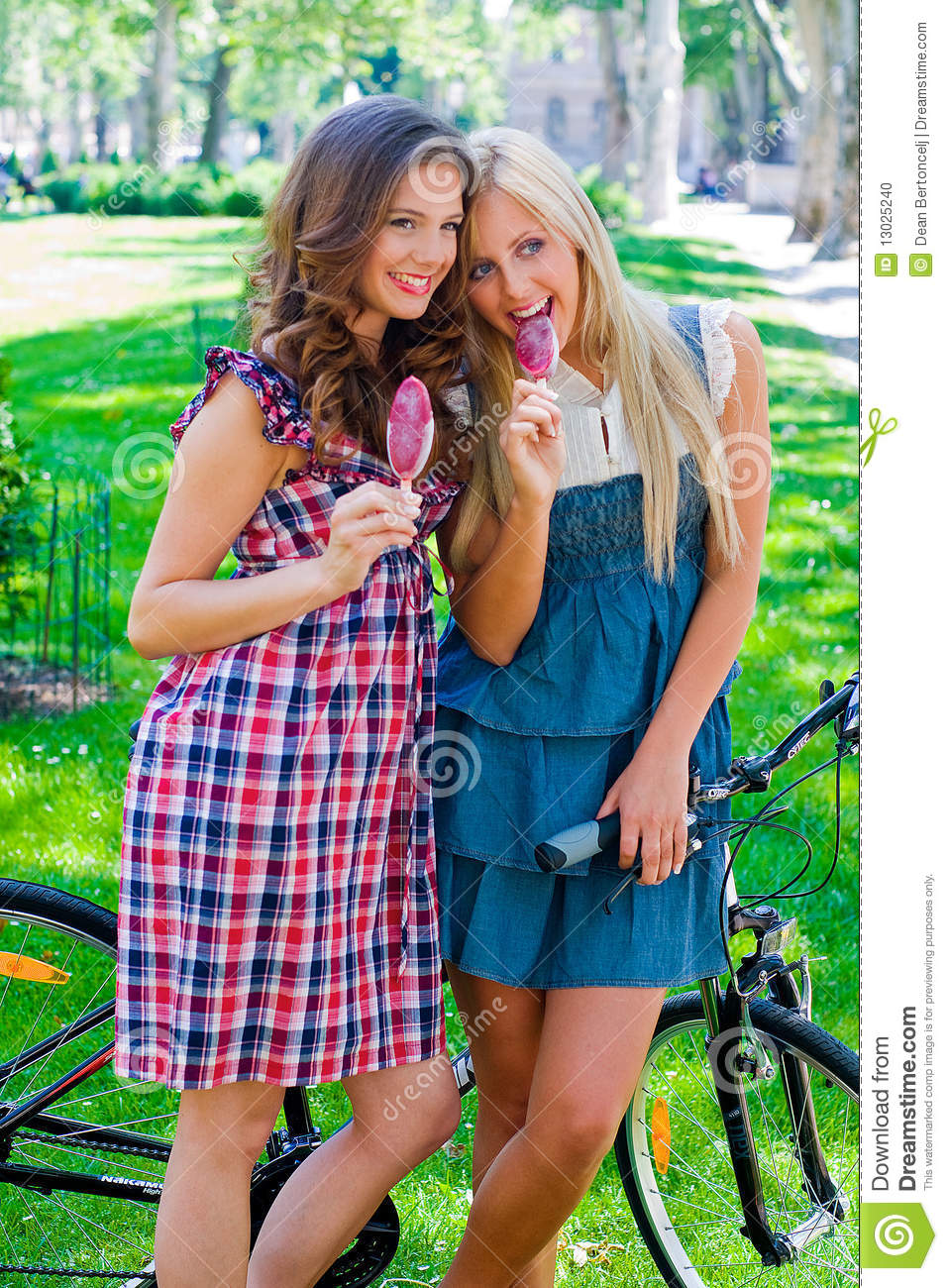 Young Girl Models Nn: Two Teen Girls Outside Stock Photo. Image Of Outside