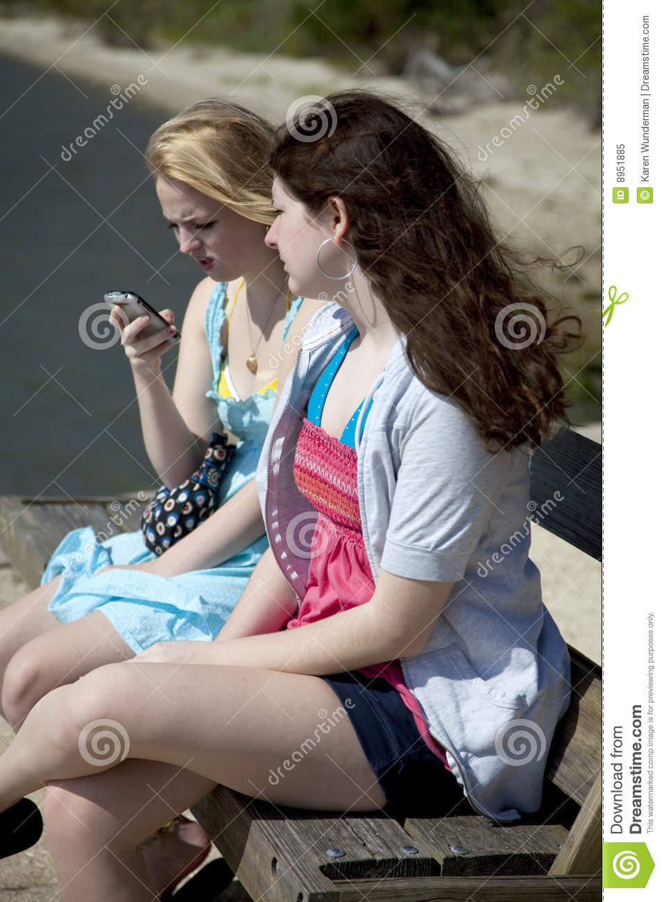 One girl one cell phone