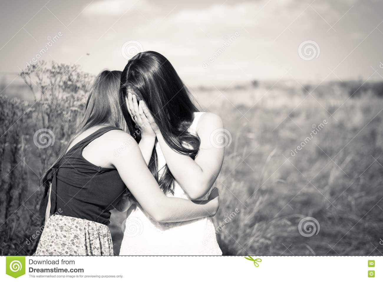 Two Teenage Girls Friends Having Difficult Times Friendship Concept Stock Image Image Of Black Adult 69357717