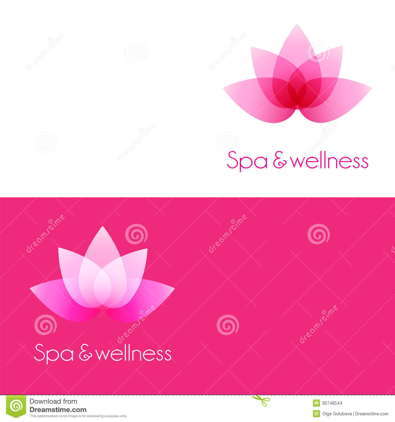 two template with lotus flower elements stock images image 35748544