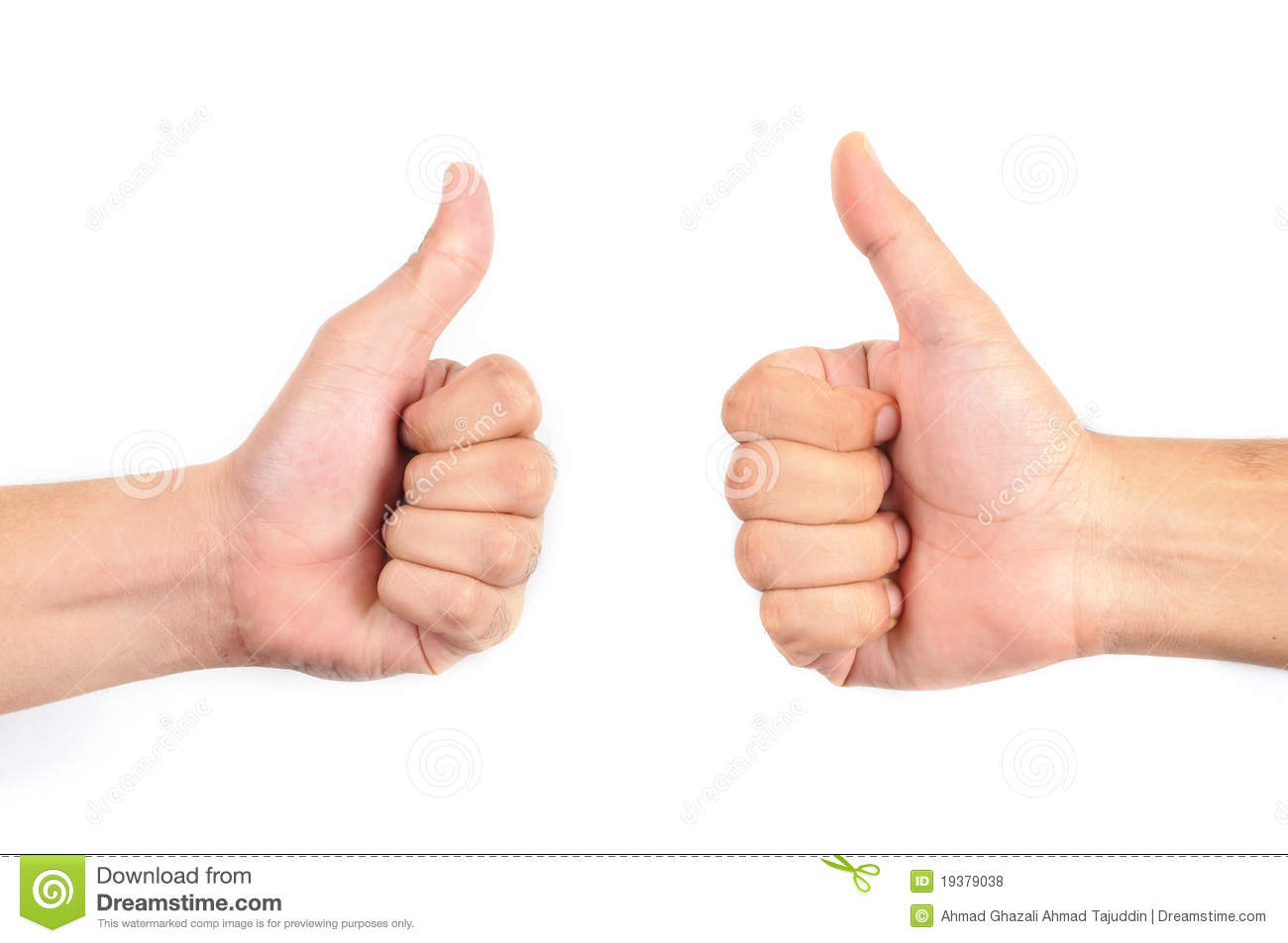 Two Thumbs Up Royalty Free Stock Photos - Image: 19379038
