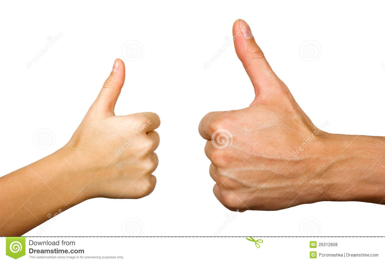 Two thumbs up stock photo. Image of small, generations ...