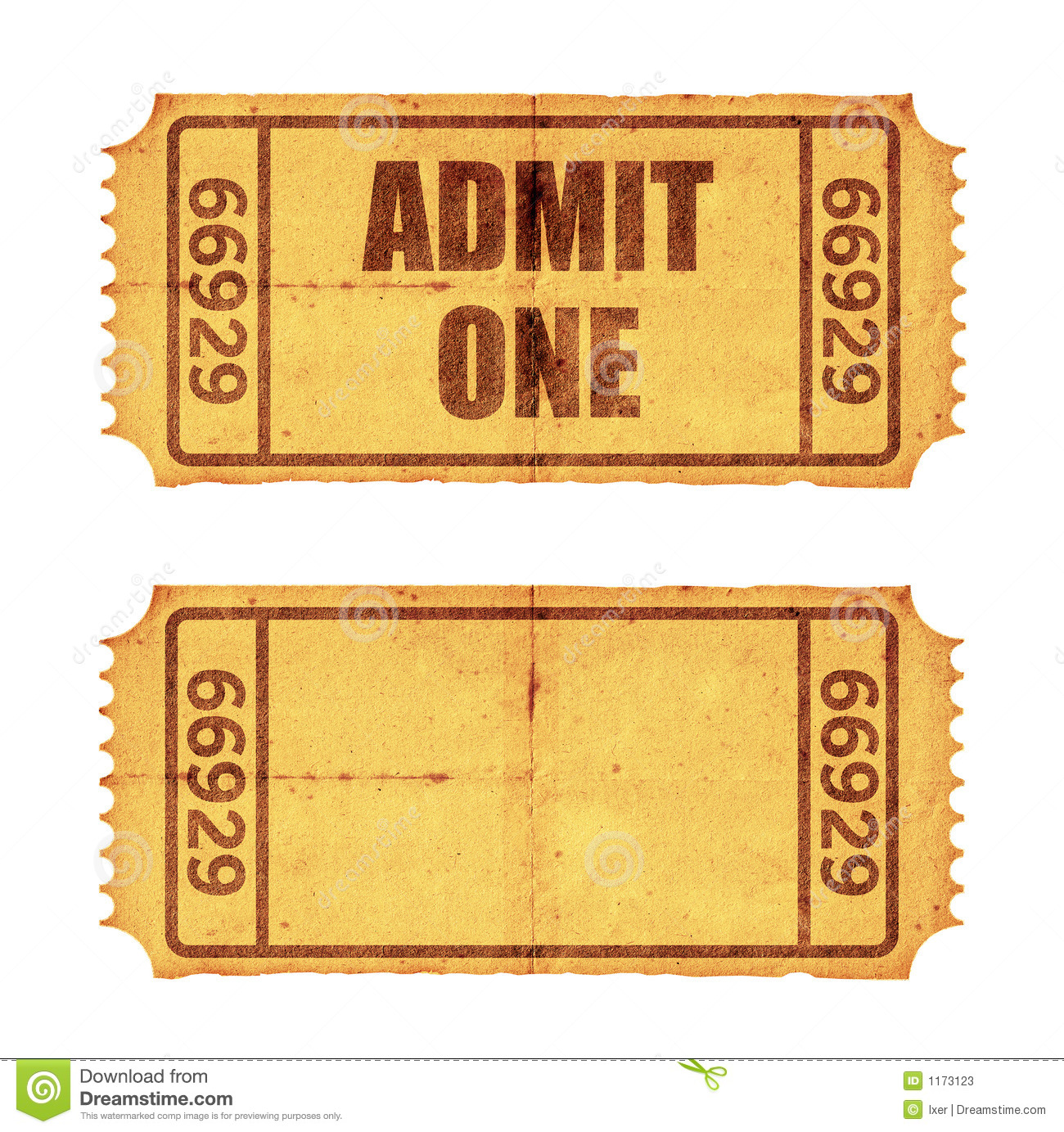 two tickets stock image image of mess artwork grungy 1173123