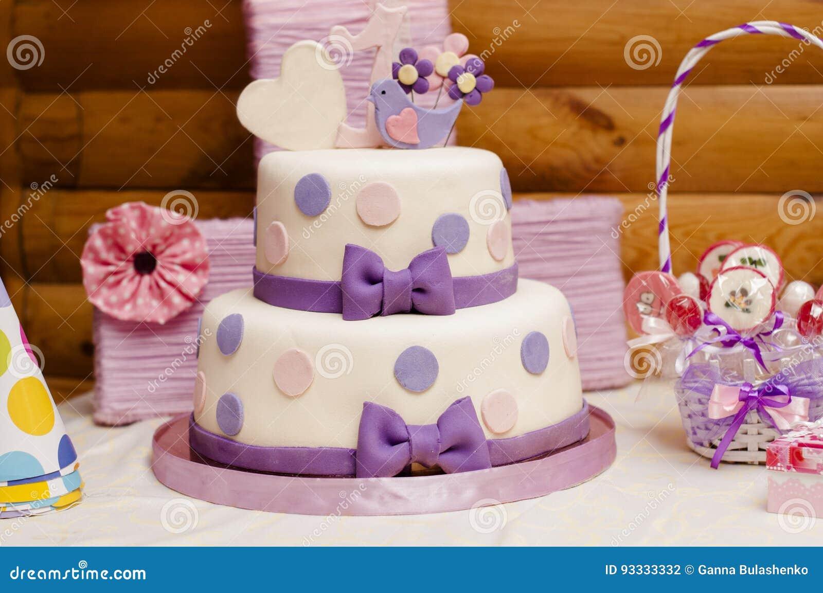 Surprising Two Tier Birthday Cake Stock Photo Image Of Food Cream 93333332 Funny Birthday Cards Online Alyptdamsfinfo