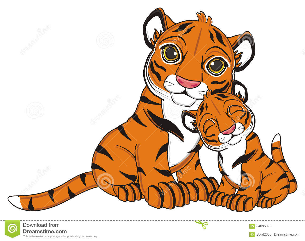 Two Tigers Together Royalty-Free Stock Photo ...