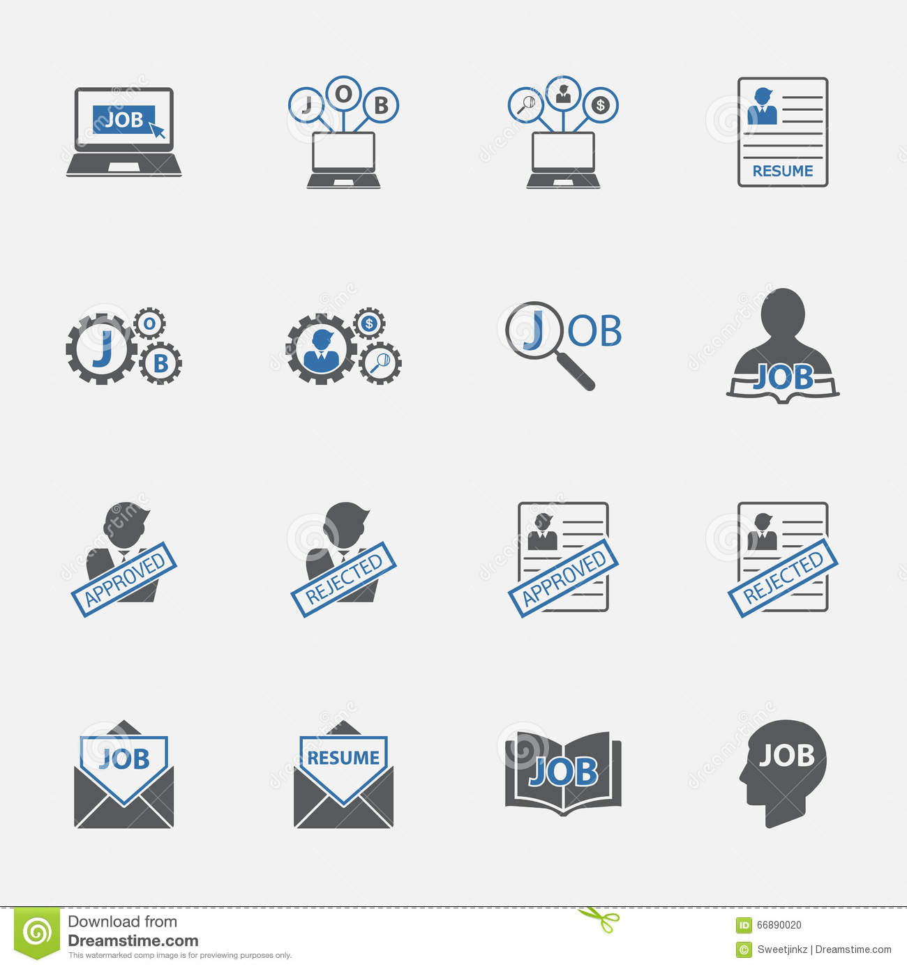 set of business management jobs vector illustration stock vector two tone jobs icons set vector illustration stock photo