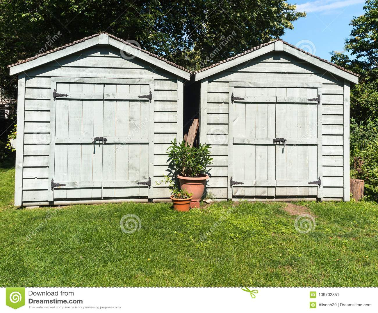 Two Tool Sheds Stock Image Image Of Landscaping Tool 109702851