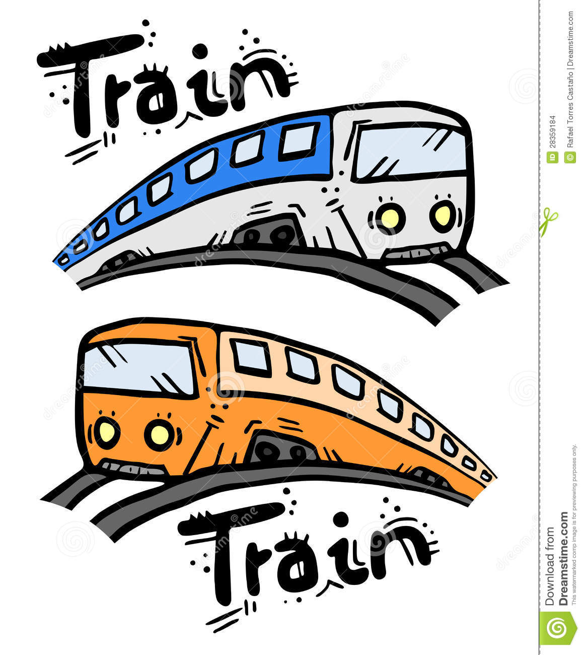 Two Travel Cartoon Stock Images - Image: 28359184