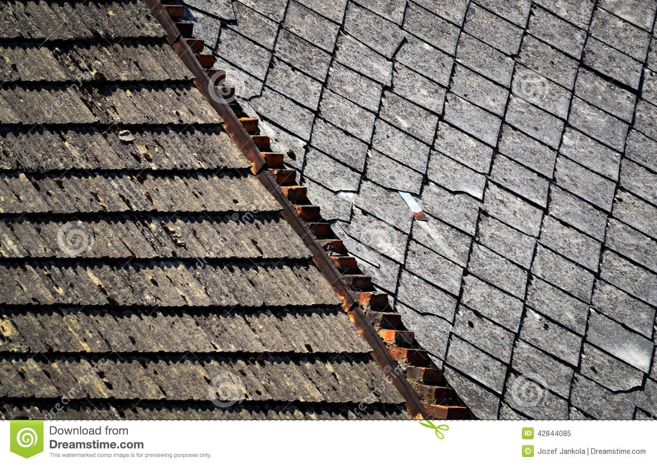Old Roofs Two Types Of Old Roofs Stock Photo  Image 42844085