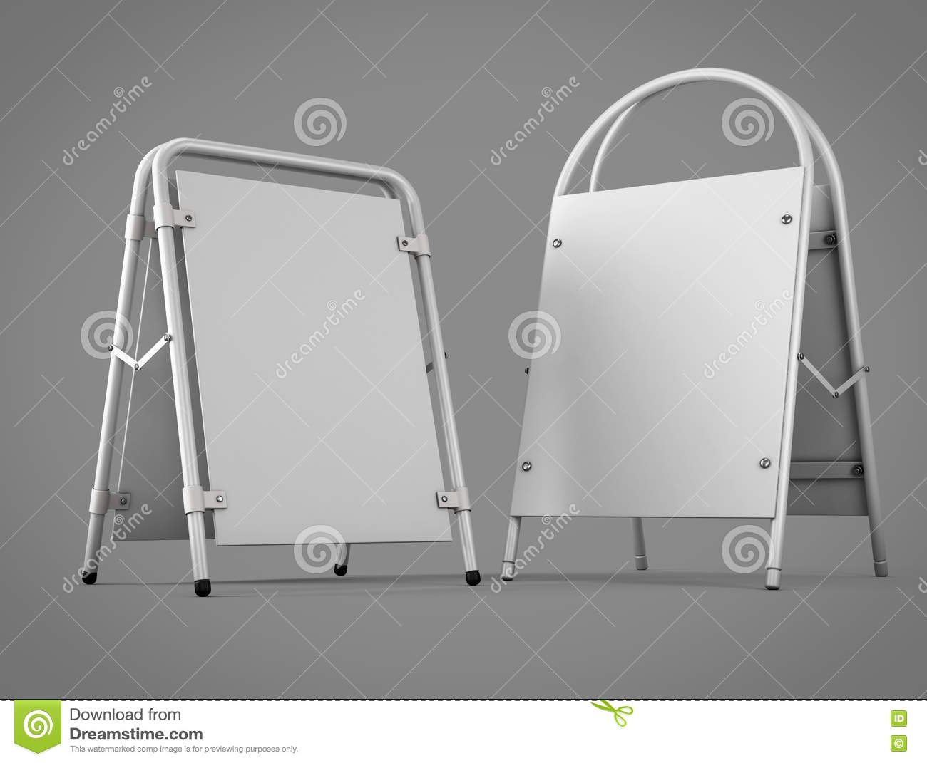 Two Types Of Outdoor Advertising Stands For Your Design