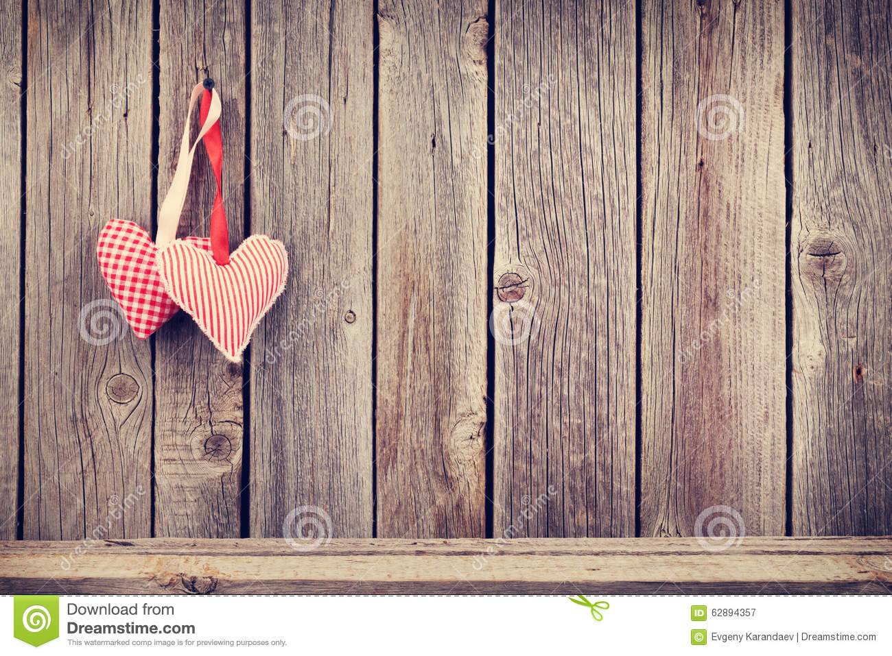 Download Two Valentines Day Hearts On Rustic Wooden Wall Stock Image - Image of couple, romance: 62894357