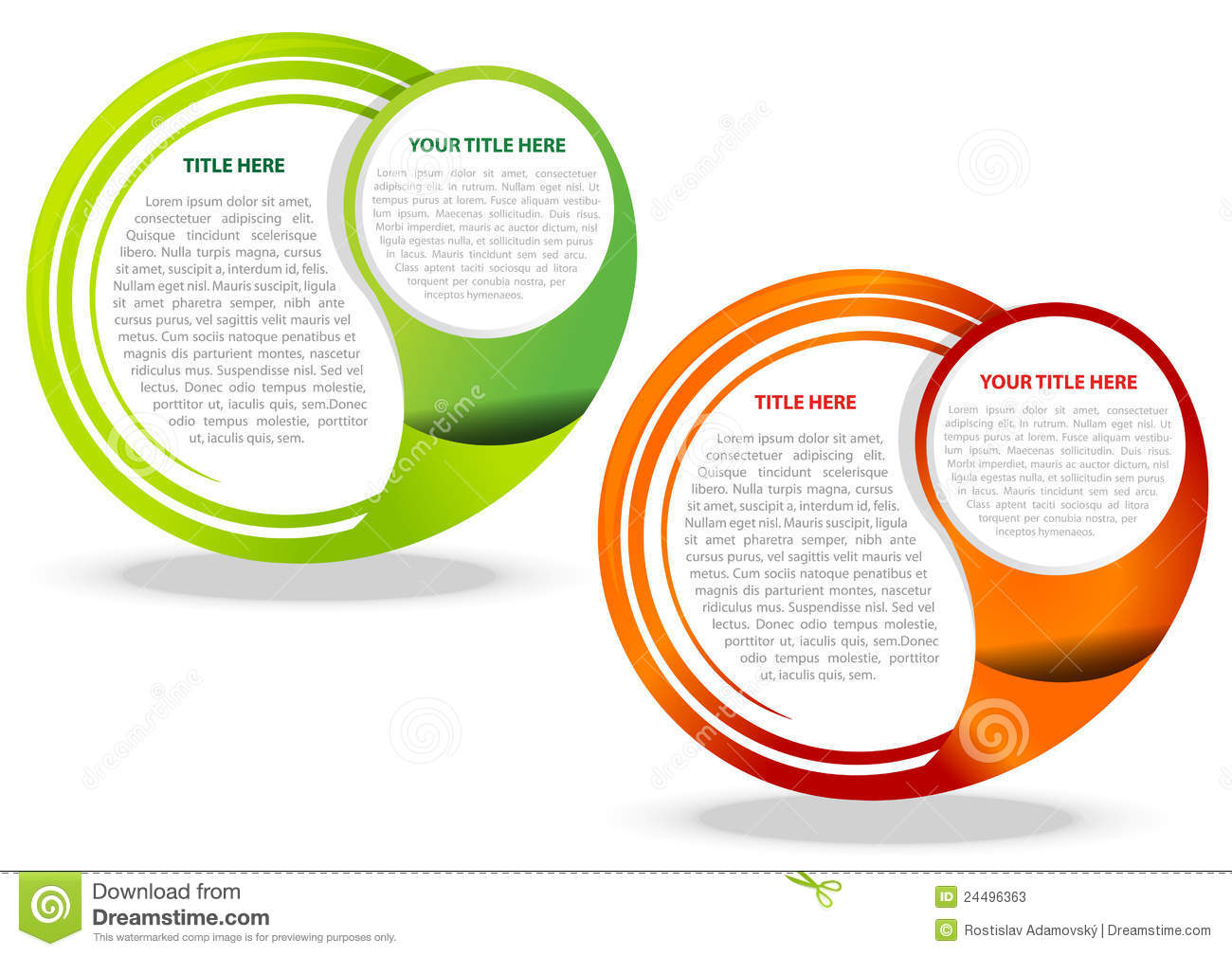 Two vector abstract background