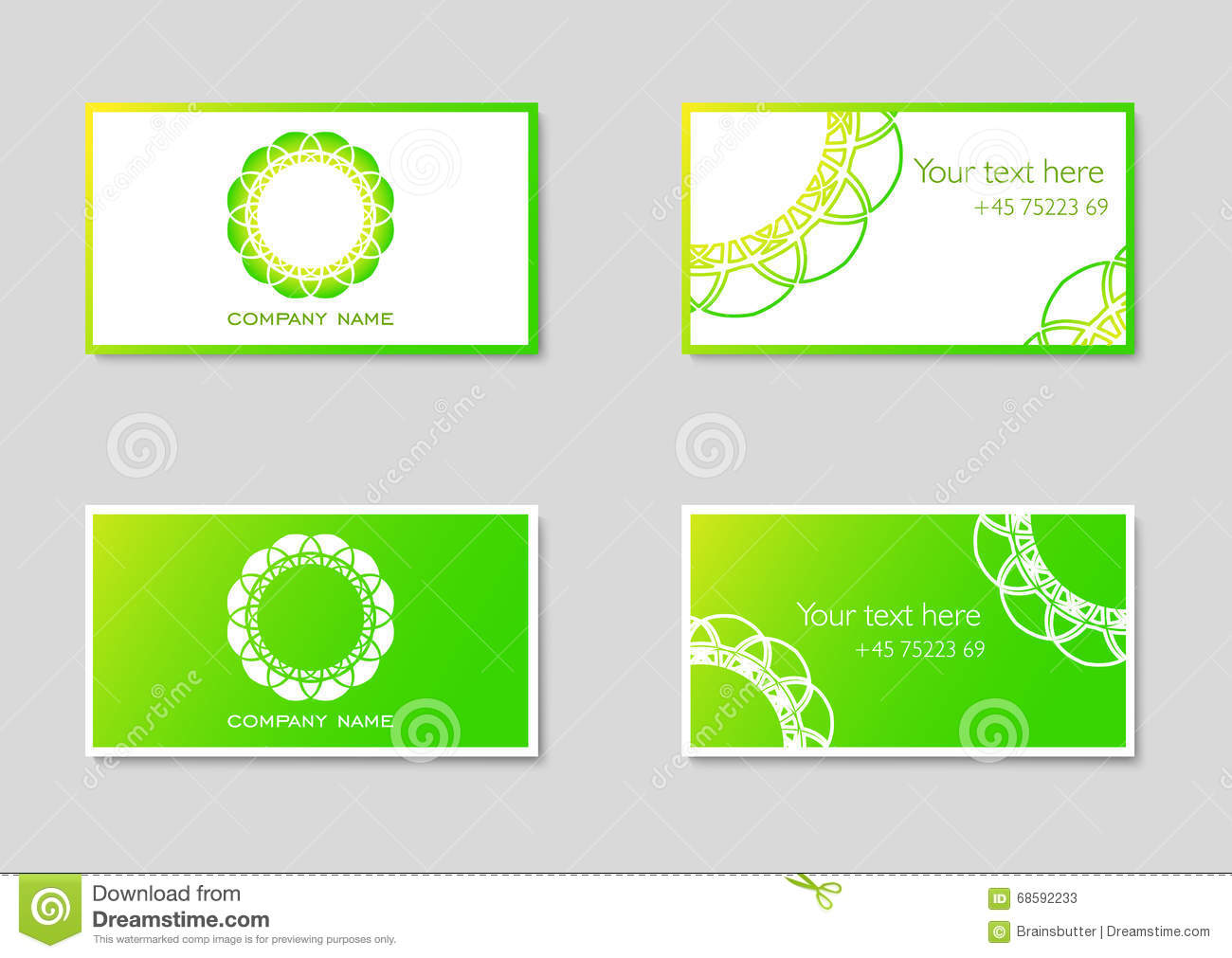 Two vector business card templates with company logo stock vector two vector business card templates with company logo magicingreecefo Image collections
