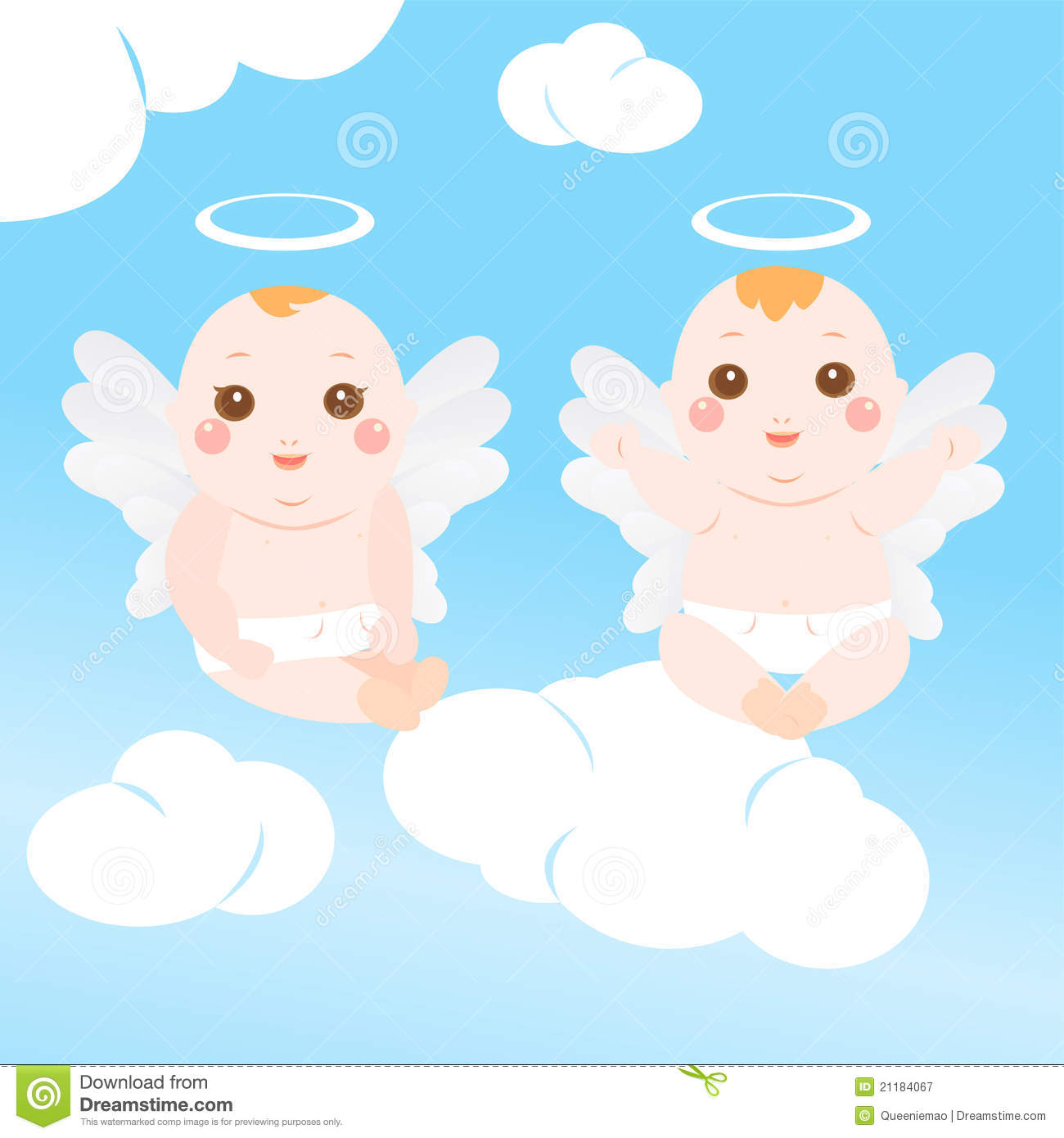Two very cute angel baby