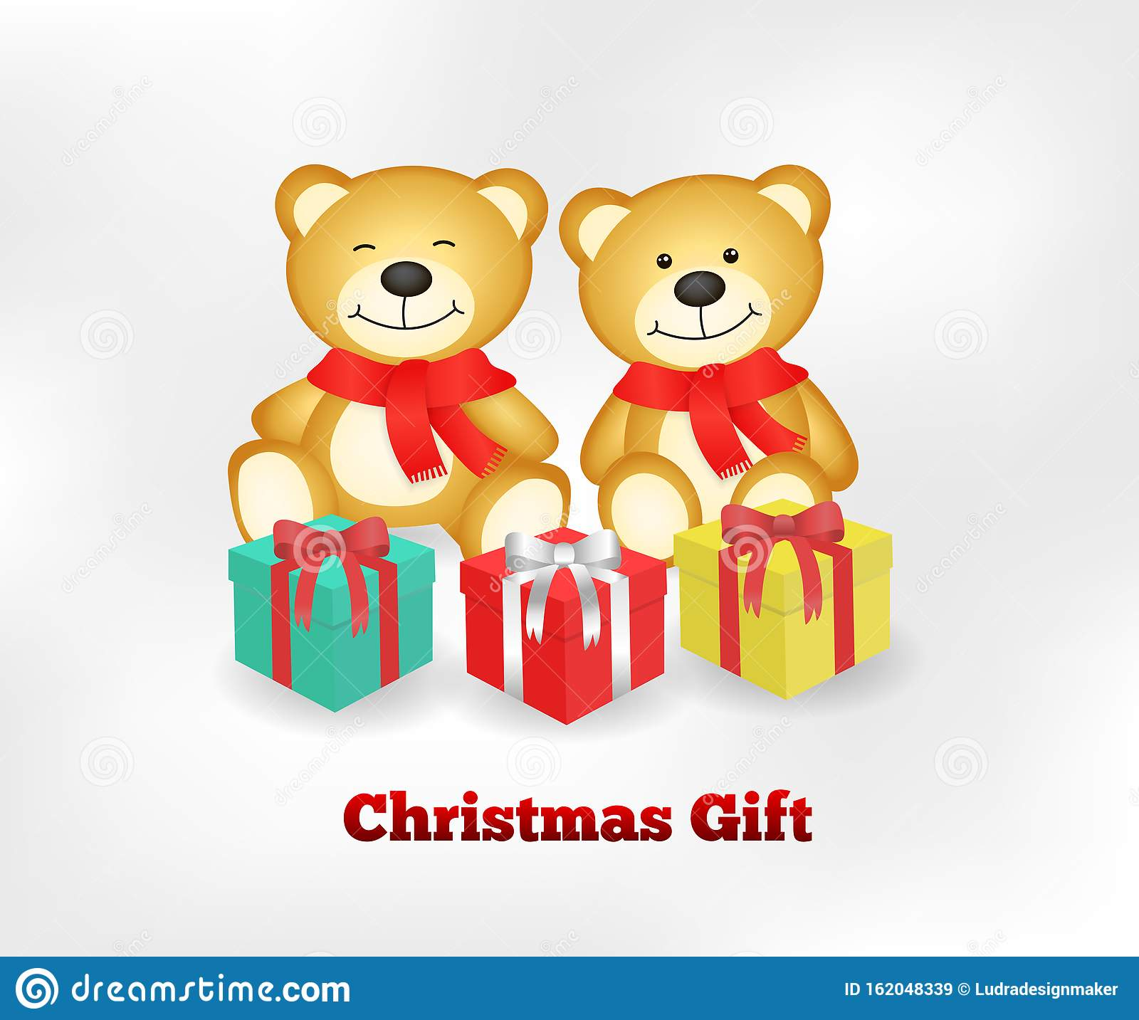 Two Very Cute Teddy Bears In Brown Stock Illustration ...