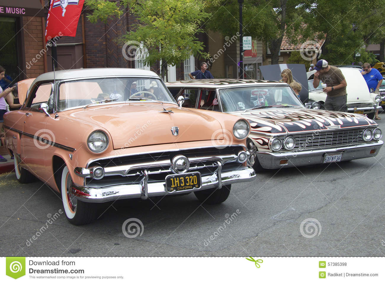 Two Vintage Cars At Car Show Editorial Stock Photo Image 57385398
