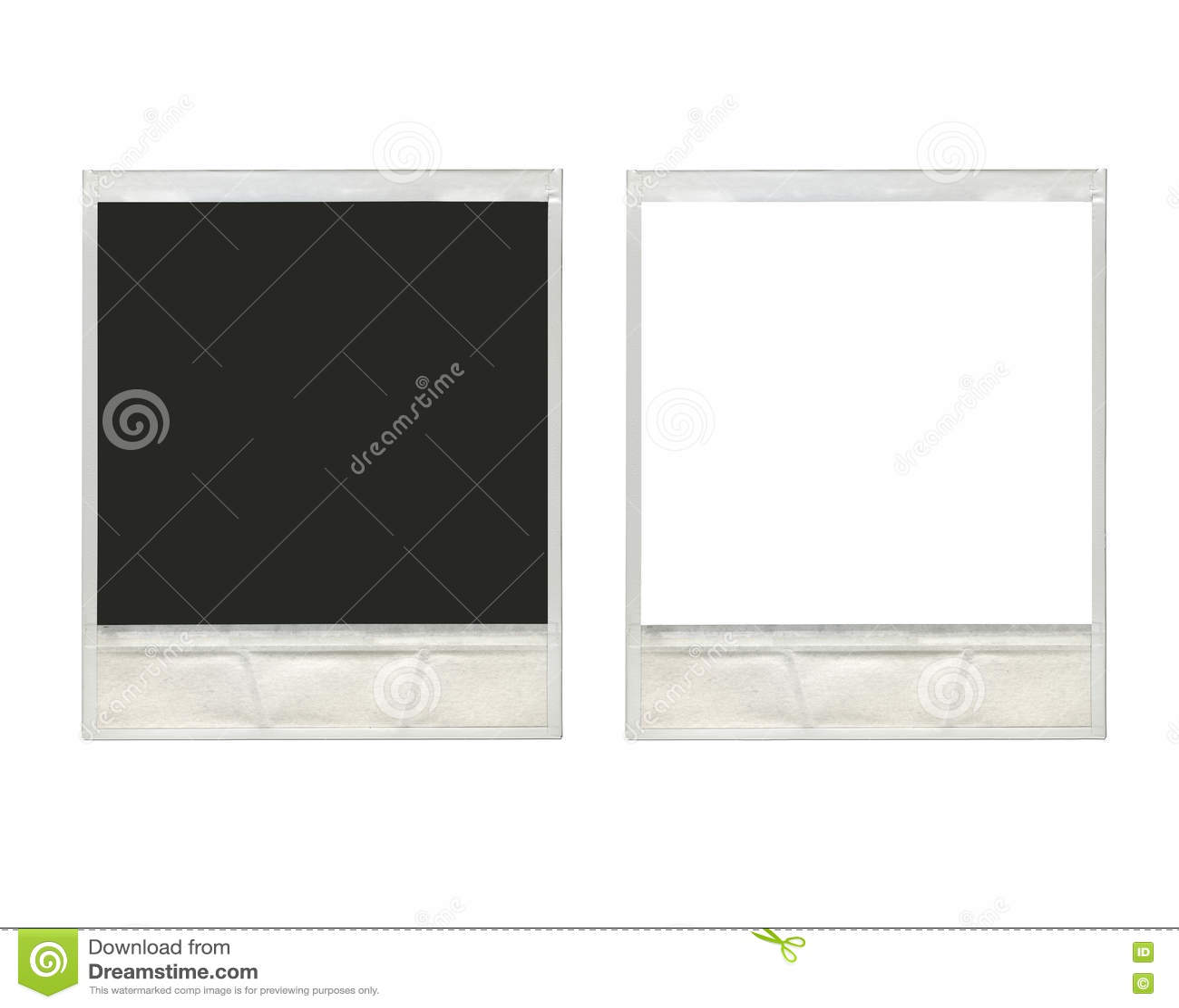 Two Vintage Instant Polaroid Photo Frames Stock Photo - Image of ...