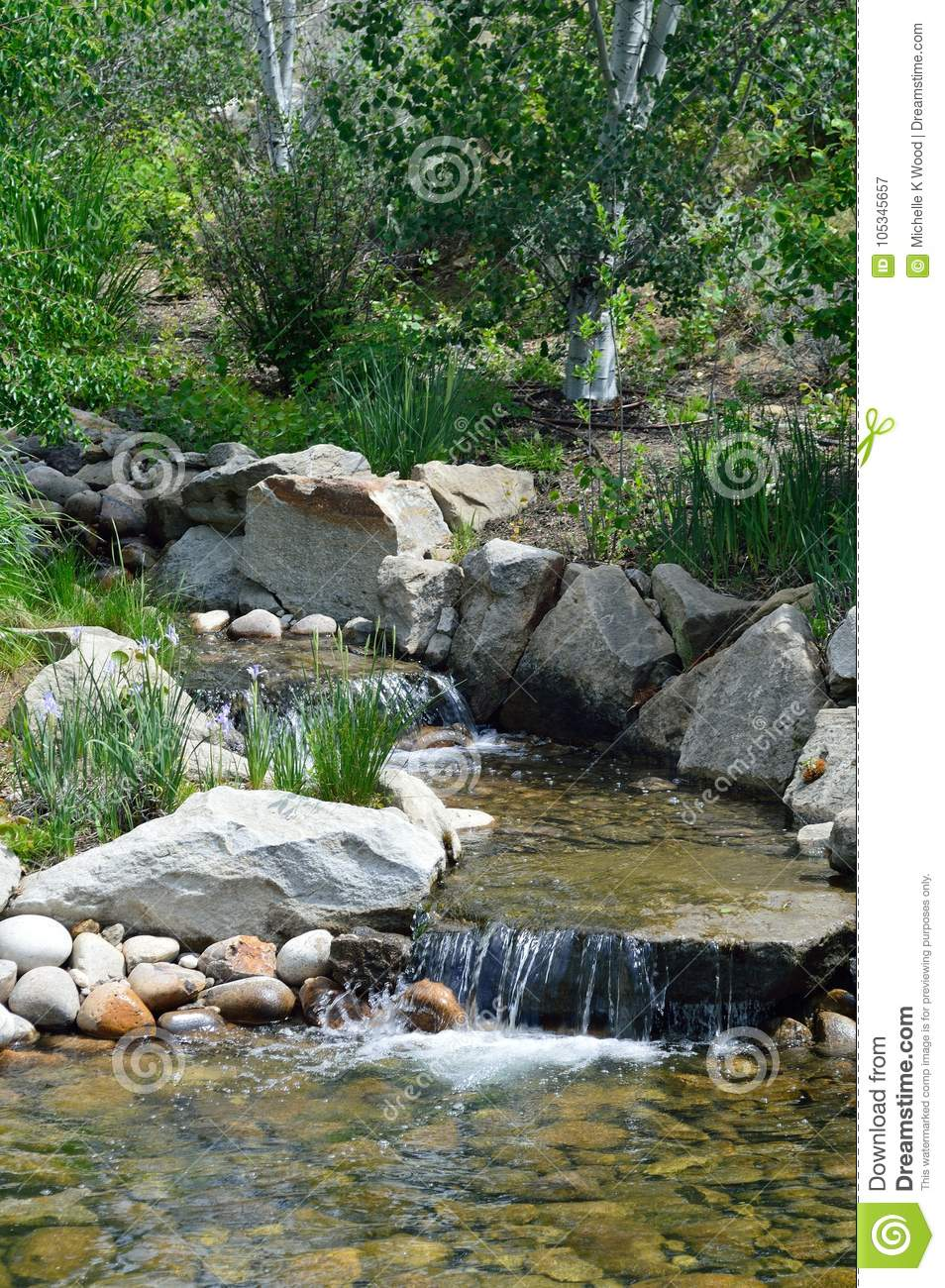 Two Waterfalls in a stream in the Boise, Idaho foothills.