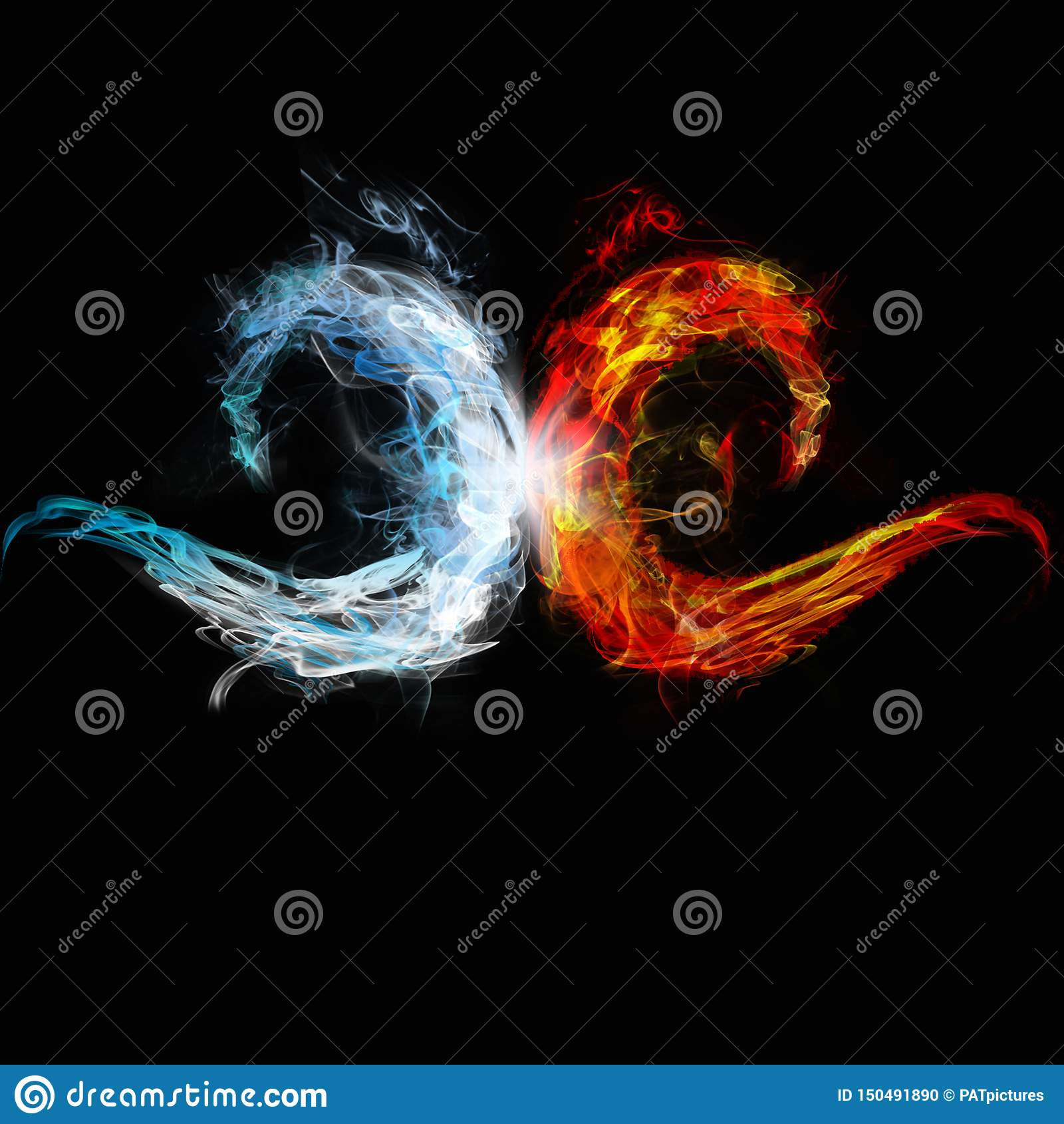 Two waves of ice and fire meet