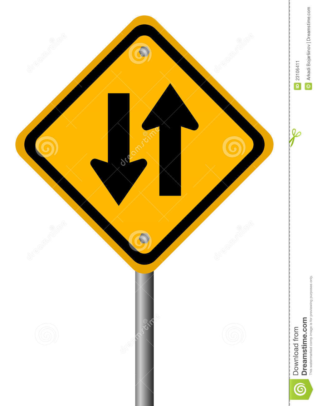two way traffic sign stock image image 23106411
